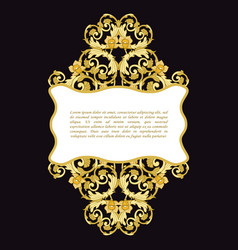 vintage frame decorative design elements vector image