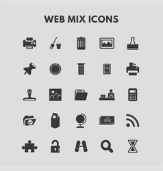 Web mix icons vector