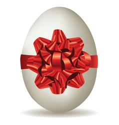 White egg with bow vector