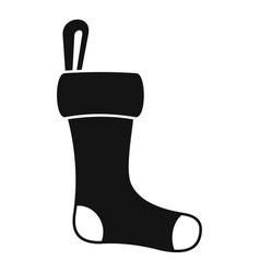 winter sock icon simple style vector image