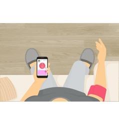 Wireless blood pressure monitor mobile app vector