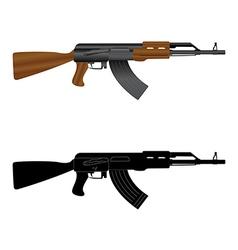 Assault rifle ak 47 vector image