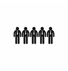 Business team icon simple style vector image vector image