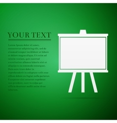 Chalkboards flat icon on green background vector image