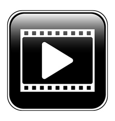Film strip with play icon vector image