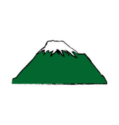 mountain snow peak natural landscape image vector image