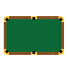 pixel art empty green billiard table on a white vector image vector image