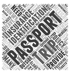 Preparing for your trip to mexico word cloud vector