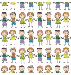 seamless pattern with of children vector image