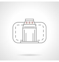 Turnstile flat line icon vector image vector image