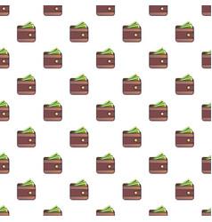 wallet pattern vector image vector image