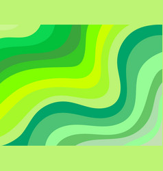 Wavy background shades of green vector