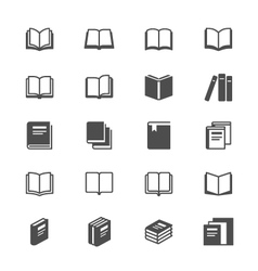Book flat icons vector image