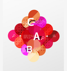 circle geometric abstract background vector image
