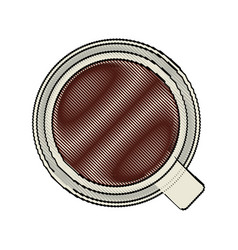 Color blurred stripe of top view cup of coffee vector