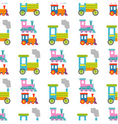 game gift kids train seamless pattern background vector image vector image