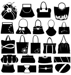 purse collage vector image vector image