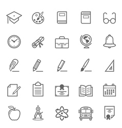 Set of Outline stroke Education icon vector image