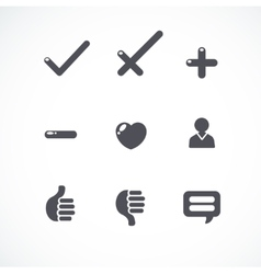 simple flat icons collection vector image