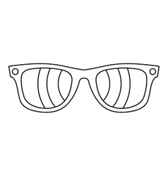 Sunglasses icon outline style vector image vector image