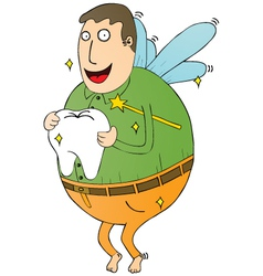 Tooth fairy man vector image