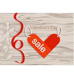 valentinea sale vector image vector image