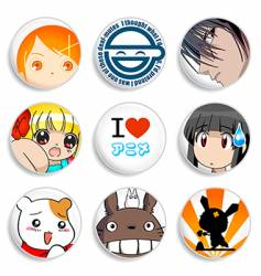 Anime badges vector