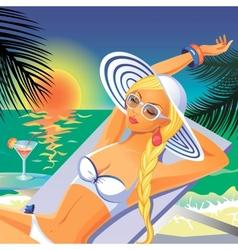 bikini girl vector image