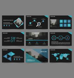 blue black abstract presentation templates vector image
