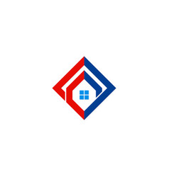 home square construction logo vector image