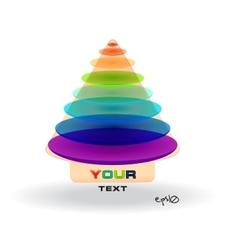 Multicolor abstract logo vector image