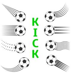 soccer ball set vector image