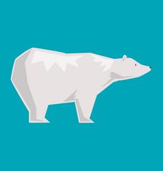 white polar bear cartoon happy animal vector image vector image