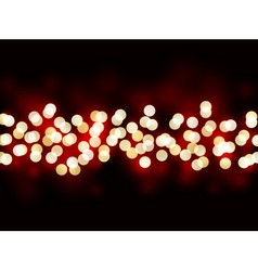 Holiday lights on black background vector image