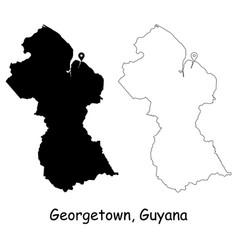 1079 georgetown guyana vector image