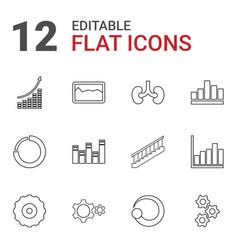 12 progress icons vector