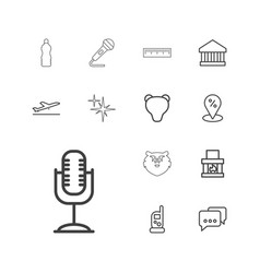 13 sign icons vector