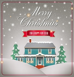 A cozy christmas house vector