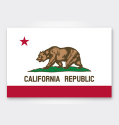 Accurate correct state flag california ca vector