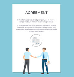 Agreement visualization poster vector