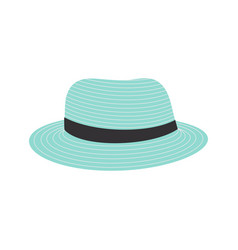 beach hat isolated icon design vector image
