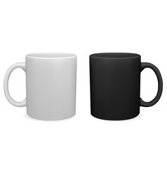 black and white coffee mug tea cup blank vector image