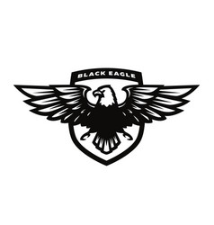 Black eagle logo symbol emblem vector