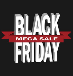 black friday sale in 3d templ vector image