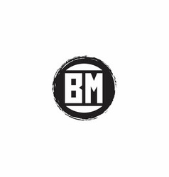 Bm logo initial letter monogram with abstract vector
