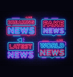 Breaking news collection sign design vector