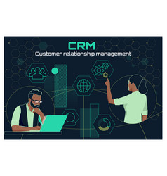 Business customer crm management analysis service vector