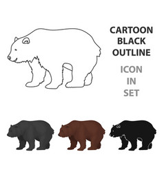 canadian brown bear canada single icon in cartoon vector image