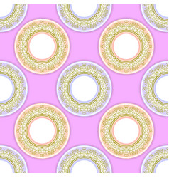 ceramic ornamental plate seamless pattern vector image