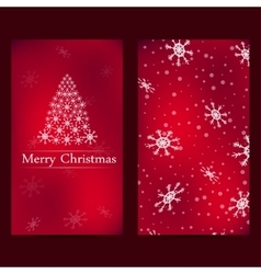 Christmas and New Years card with red background vector image